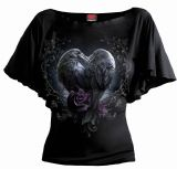 RAVEN HEART - BOAT NECK BAT SLEEVE TOP-